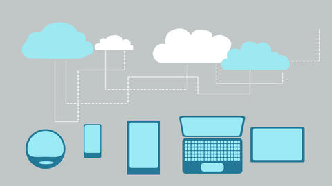 Cloud Connection Devices Animation