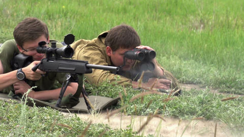 Sniper Makes the Shot Footage