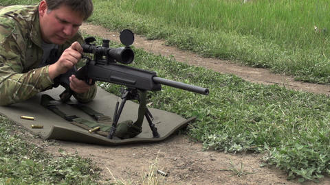 Loading Rifles and Shot Footage