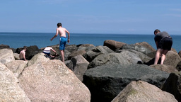 Climbing Rocks Footage