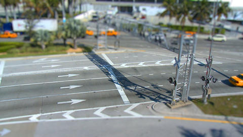 Busy Intersection - Tilt Shift stock footage