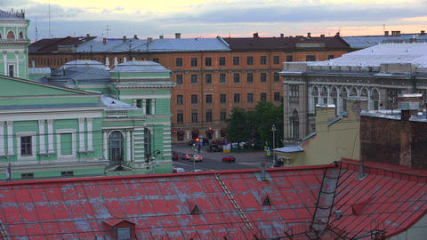 Petersburg. View from the roof. The Centre Of The  Footage