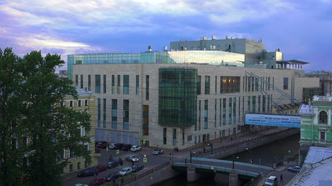 Petersburg. View from the roof. Mariinsky theatre. Footage