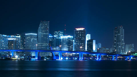 Miami Skyline Zoom stock footage