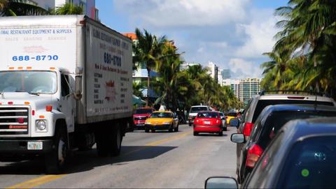 Ocean Drive traffic Footage