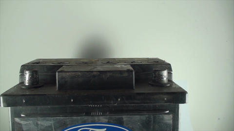 Man Hand Adding Minus To A 12V Car Battery, Isolat Footage