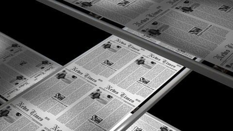 Newspaper Press At Work stock footage