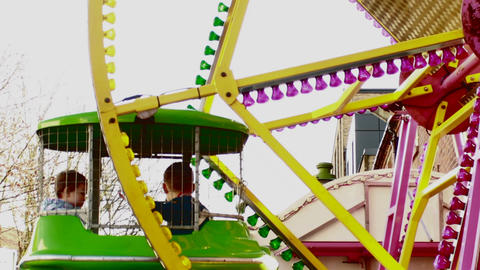 Carousel at Birmingham Chinese New Year Festival 5 Footage