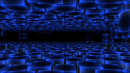 [alt video] Abstract Moving Blocks - Loop Blue