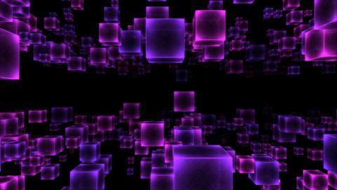 Abstract Moving Blocks - Loop Purple Animation