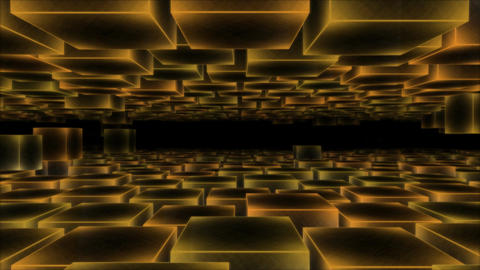 Moving Blocks Background - Loop Yellow Animation