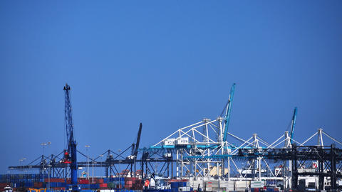 Freight Port stock footage