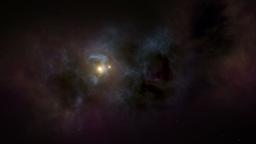 Flying through stars and nebulas Animation