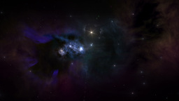 Flying through stars and nebulas Animation