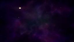 Traveling through stars and nebulas. E Stock Video Footage