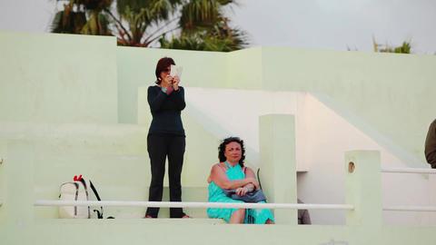 two female tourists in Boa Vista Footage