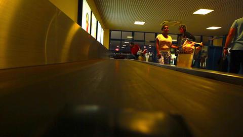conveyor belt at an airport at Santiago Footage