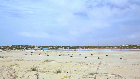 Desert Road On Boa Vista With Traffic stock footage