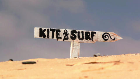kite and surf sign on Boa Vista Footage