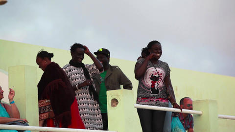 Audience At A Concert In Boa Vista stock footage