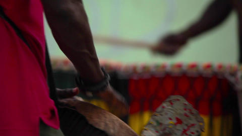 percussionist in Boa Vista Footage