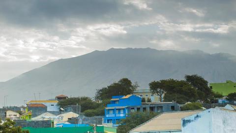 skyline on Cape Verde Islands Footage