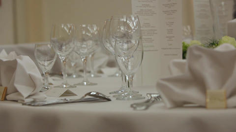 Set Table stock footage