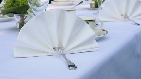 White Napkin stock footage