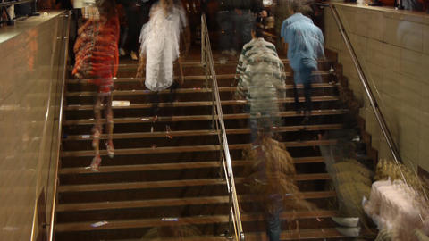 People on the stairs Stock Video Footage
