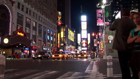 New York Night Timelapse Stock Video Footage