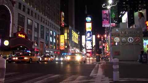 New York Night Timelapse Stock Video Footage