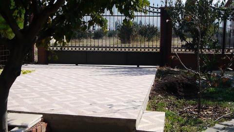 Garage in the garden Stock Video Footage