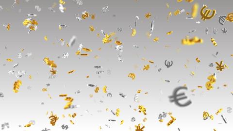 Money Symbol 2A dollar Euro Yen Sw Stock Video Footage