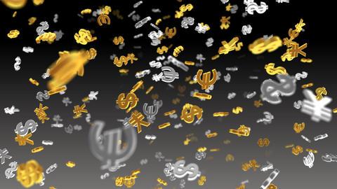Money Symbol 2E dollar Euro Yen b HD Animation