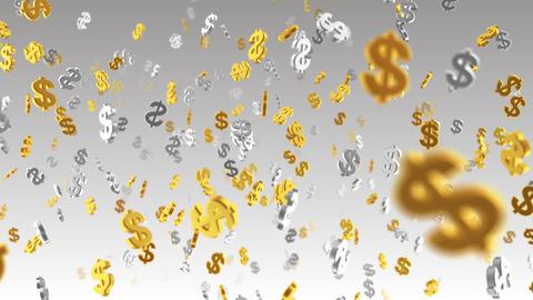 Money Symbol 2E dollar w Stock Video Footage