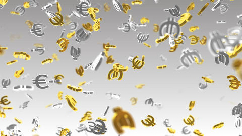 Money Symbol 2B Euro w Stock Video Footage