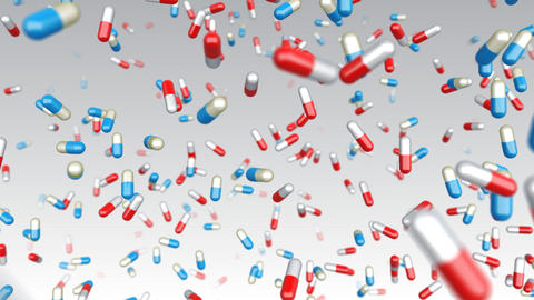 Medicine Drug 2aW capsule pills Animation