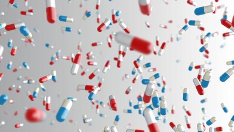 Medicine Drug 2bW capsule pills Stock Video Footage
