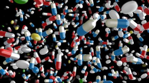 Medicine Drug 2dB Capsule Tablet pills Stock Video Footage
