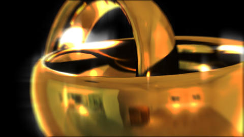 Two golden rings. Wedding. Wipe. Matte Stock Video Footage