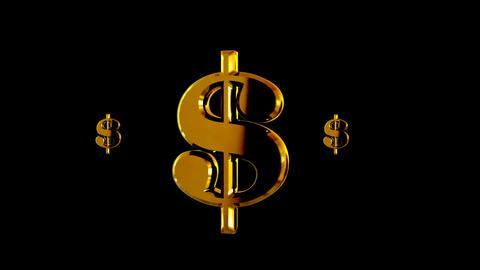 Dollars sign. Matte. Loop Stock Video Footage