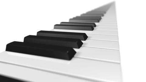 Music keyboard 1a Stock Video Footage