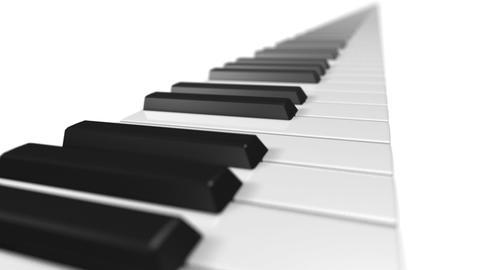 Music keyboard 1a CG動画