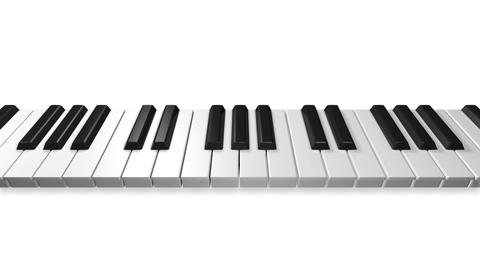 Music keyboard 2a Stock Video Footage