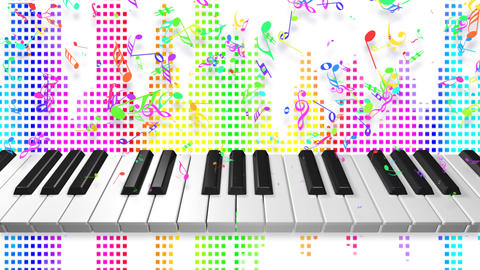 Music keyboard 2c Stock Video Footage
