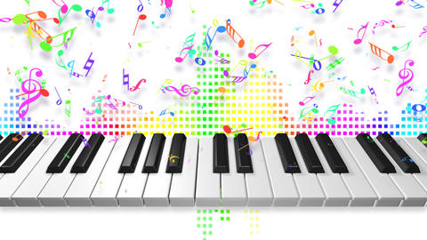 Music keyboard 2c Animation