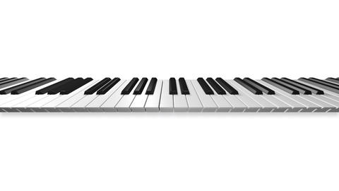 Music keyboard 3a Stock Video Footage