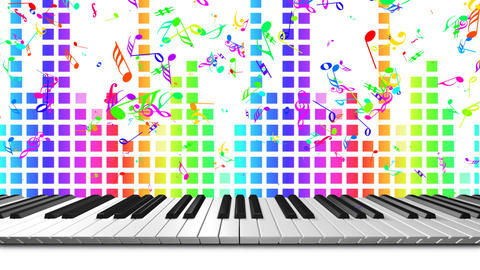 Music keyboard 3c Stock Video Footage