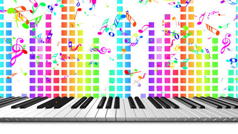 Music keyboard 3c CG動画素材