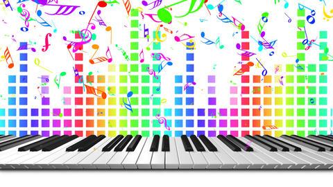 Music keyboard 3c Stock Video Footage
